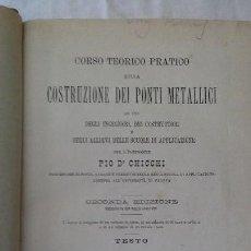 Libros antiguos: CONSTRUZIONE DEI PONTI METALLICI. Lote 128898287
