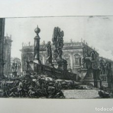 Libros antiguos: EXQUISITO GRABADO ARQUITECTURA - VISTA PERSPECTIVA DE LA PLAZA CAPITOLINA DE ROMA. Lote 129171255