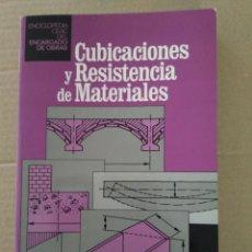 Libros antiguos: CUBICACIONES Y RESISTENCIA DE MATERIALES. CEAC. Lote 131098448