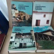 Libros antiguos: ARQUITECTURA POPULAR ESPAÑOLA DE CARLOS FLORES (5 TOMAS ) COMPLETO. Lote 131921598