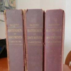 Libros antiguos: ANTIGUAS LITOGRAFIAS DE ARQUITECTO. MATERIAUX ET DOCUMENTS D'ARCHITECTURE DE SCULPTURE. A. RAGUENET.. Lote 132804151