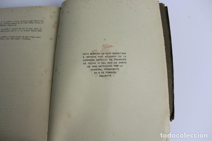 Libros antiguos: L- 5085. MEMORIA DE LA COMISION ESPECIAL DE ENSANCHE, RAFAEL RIO DE VAL. 1927. - Foto 8 - 133136322