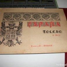 Libros antiguos: LIBRO CATÁLOGO CON 10 LÁMINAS ESPAÑA TOLEDO PRIMERA SERIE CASTEL Y CIA MADRID Y PLANO DE TOLEDO. Lote 133384498