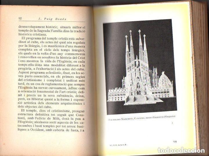 Libros antiguos: PUIG BOADA : EL TEMPLE DE LA SAGRADA FAMÍLIA (BARCINO, 1929) CON LÁMINAS Y PLANOS - Foto 2 - 133941806