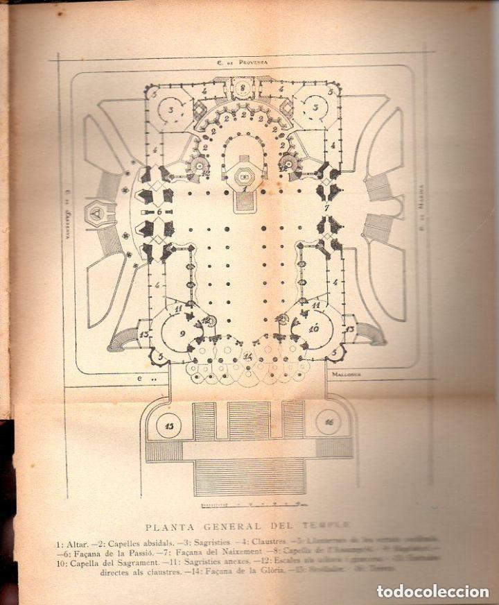 Libros antiguos: PUIG BOADA : EL TEMPLE DE LA SAGRADA FAMÍLIA (BARCINO, 1929) CON LÁMINAS Y PLANOS - Foto 4 - 133941806