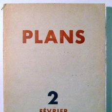 Libros antiguos: (GROPIUS, LE CORBUSIER, ETC.) - PLANS 2. FÉVRIER 1931 - PARIS 1931 - ILUSTRADO. Lote 135288389