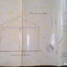 Libros antiguos: ARQUITECTURA MODERNISTA,PLANO ORIGINAL,ARQUITECTO,JOAQUIM BASSEGODA ,1912,FIRMADO,EPOCA ANTONI GAUDI. Lote 136201670