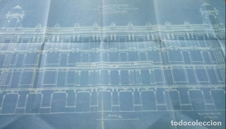 ARQUITECTURA MODERNISTA,PLANO AÑO 1913, ARQUITECTO,FRANCESC GUARDIA VIAL,FIRMADO,EPOCA ANTONI GAUDI (Libros Antiguos, Raros y Curiosos - Bellas artes, ocio y coleccion - Arquitectura)