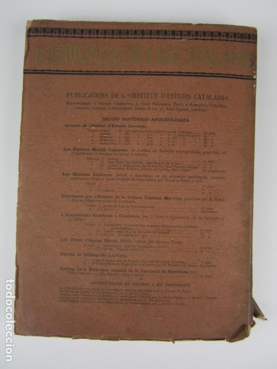 Libros antiguos: L'arquitectura romanica a Catalunya, vol III, segles XII y XIII, Puig i Cadafalch, J. Goday. 21x27cm - Foto 9 - 136487210