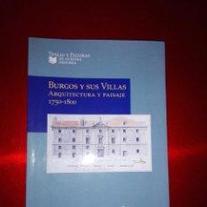 Libros antiguos: LIBRO-BURGOS Y SUS VILLAS-ARQUITECTURA Y PAISAJE-1750.1800. Lote 137257822