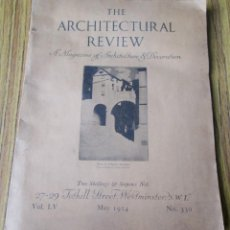 Libros antiguos: THE ARCHITECTURAL REVIEW -- VOL LV MAY 1924 Nº 330 . Lote 137772366