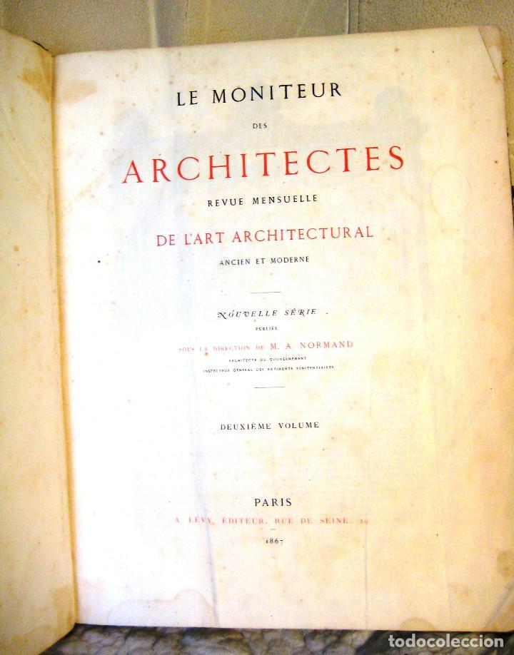 LE MONITEUR DES ARCHITECTES- 1867 (ARQUITECTURA- EN FRANCES) (Libros Antiguos, Raros y Curiosos - Bellas artes, ocio y coleccion - Arquitectura)