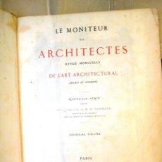 Libros antiguos: LE MONITEUR DES ARCHITECTES- 1867 (ARQUITECTURA- EN FRANCES). Lote 138384282