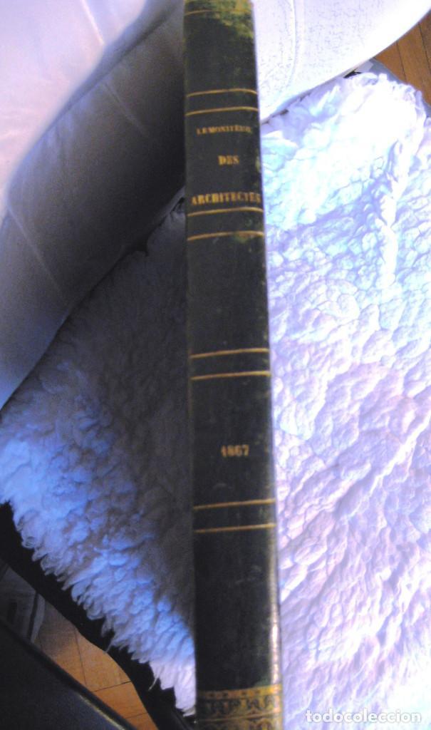 Libros antiguos: LE MONITEUR DES ARCHITECTES- 1867 (arquitectura- en frances) - Foto 2 - 138384282
