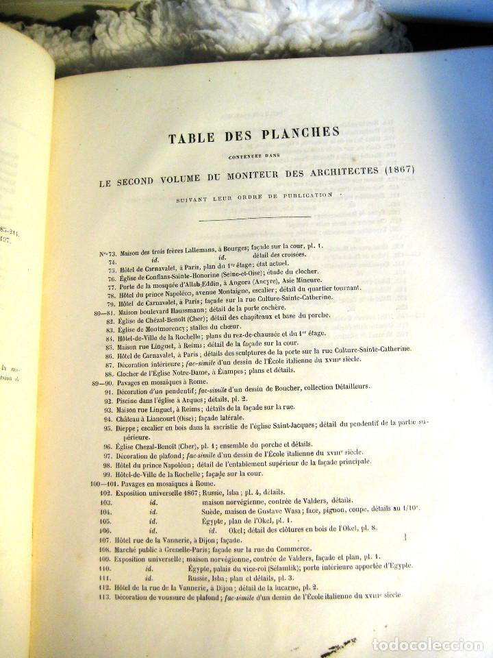 Libros antiguos: LE MONITEUR DES ARCHITECTES- 1867 (arquitectura- en frances) - Foto 4 - 138384282