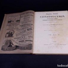 Libros antiguos: NOUVELLES ANNALES DE LA CONSTRUCTIÓN. 4º SERIE, TOMO 8, AÑO 1891. Lote 140383094