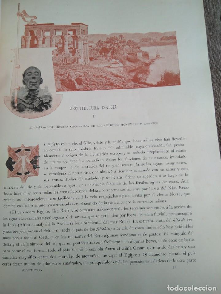 Libros antiguos: Arquitectura Tomo II. Historia General del Arte. Montaner y Simón. 1886. - Foto 4 - 140729998