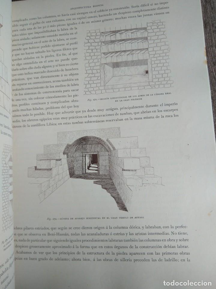 Libros antiguos: Arquitectura Tomo II. Historia General del Arte. Montaner y Simón. 1886. - Foto 5 - 140729998