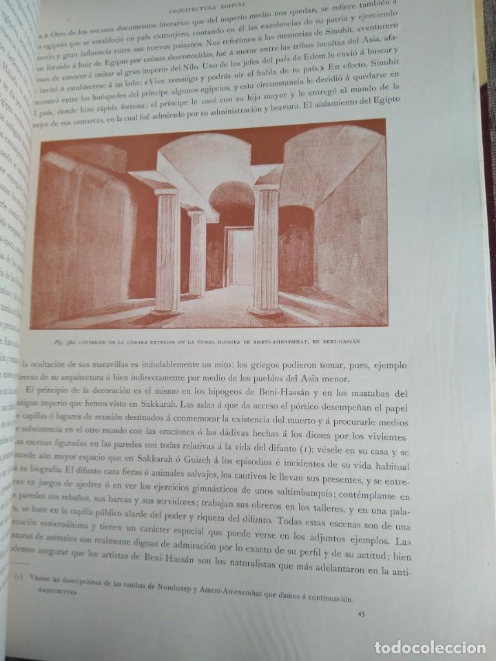 Libros antiguos: Arquitectura Tomo II. Historia General del Arte. Montaner y Simón. 1886. - Foto 7 - 140729998