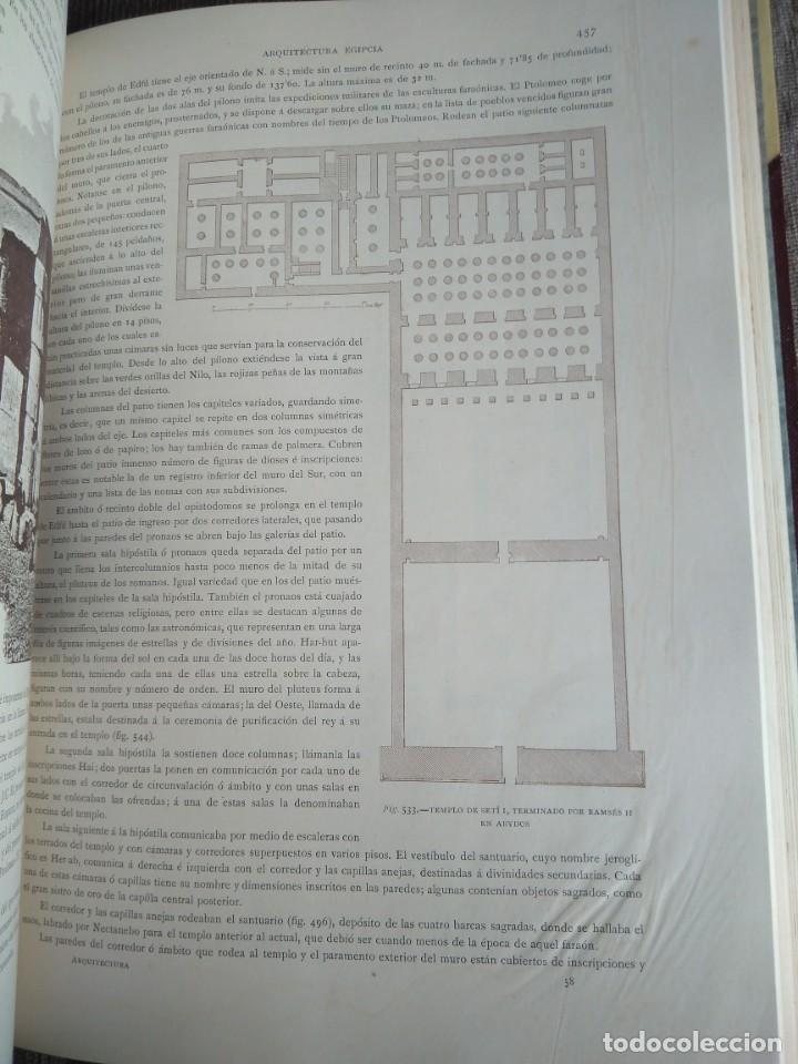 Libros antiguos: Arquitectura Tomo II. Historia General del Arte. Montaner y Simón. 1886. - Foto 8 - 140729998