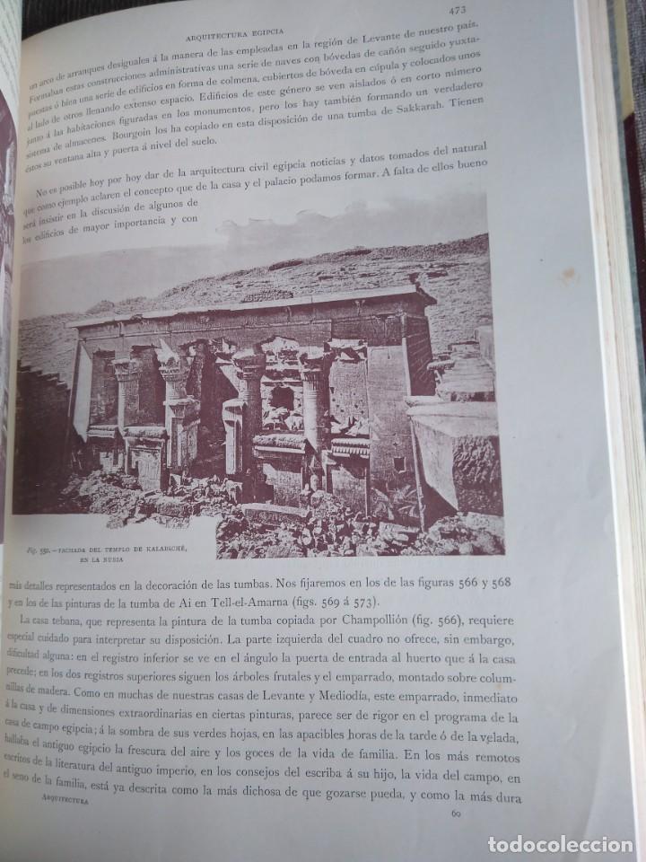 Libros antiguos: Arquitectura Tomo II. Historia General del Arte. Montaner y Simón. 1886. - Foto 9 - 140729998