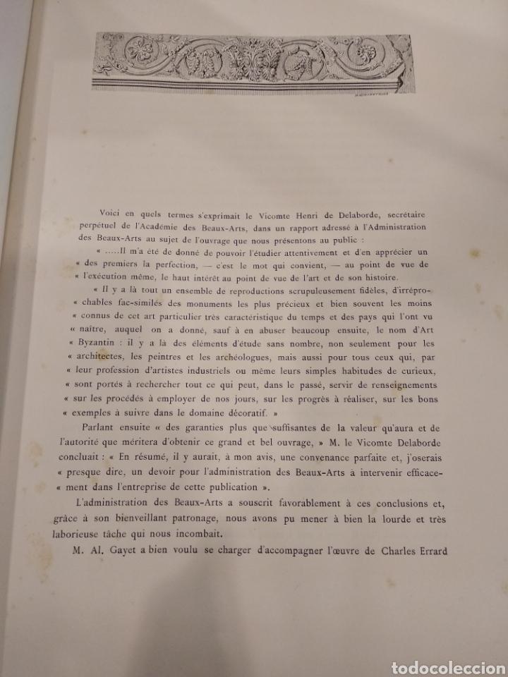 Libros antiguos: LART BYZANTIN daprès les monuments de lItalie, de lIstrie et de la Dalmatie. Paris. Vol IV - Foto 7 - 141940514