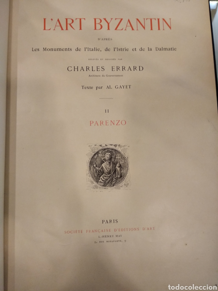 L'ART BYZANTIN D'APRÈS LES MONUMENTS DE L'ITALIE, DE L'ISTRIE ET DE LA DALMATIE. PARIS. VOL II (Libros Antiguos, Raros y Curiosos - Bellas artes, ocio y coleccion - Arquitectura)