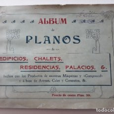 Libros antiguos: ALBUM PLANOS DE EDIFICIOS, CHALETS, RESIDENCIAS, PALACIOS ETC. J. F. VILLALTA C.E. BARCELONA. AÑOS20. Lote 141964210
