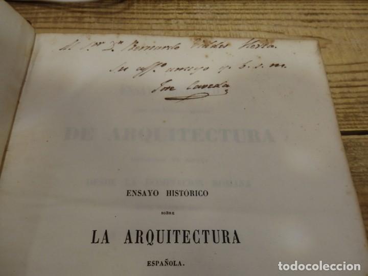 Libros antiguos: CAVEDA,JOSÉ:ENSAYO HISTORICO sobre los diversos generos de ARQUITECTURA empleados en ESPAÑA,DEDICADO - Foto 4 - 142181514