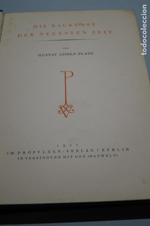 Libros antiguos: DIE BAUKUNST DER NEUESTEN ZEIT. 1927 - Foto 4 - 142452430