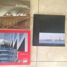 Libros antiguos: LOTE 3 LIBROS, DISEÑO VIVO, LISBOA EXPO 98 Y BODEGAS ARQUITECTURA Y DISEÑO. Lote 145238882