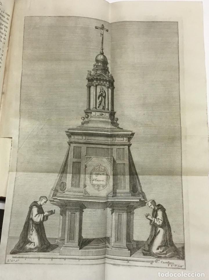 Libros antiguos: XIMÉNEZ, Andrés. DESCRIPCION DEL REAL MONASTERIO DE SAN LORENZO DEL ESCORIAL. 1764 - Foto 6 - 145613674