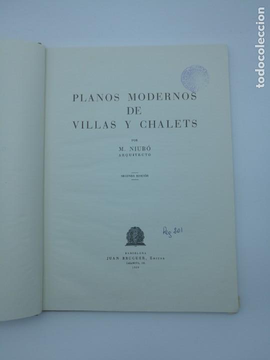 Libros antiguos: Planos modernos de villas y chalets 1959 - Foto 2 - 146387046