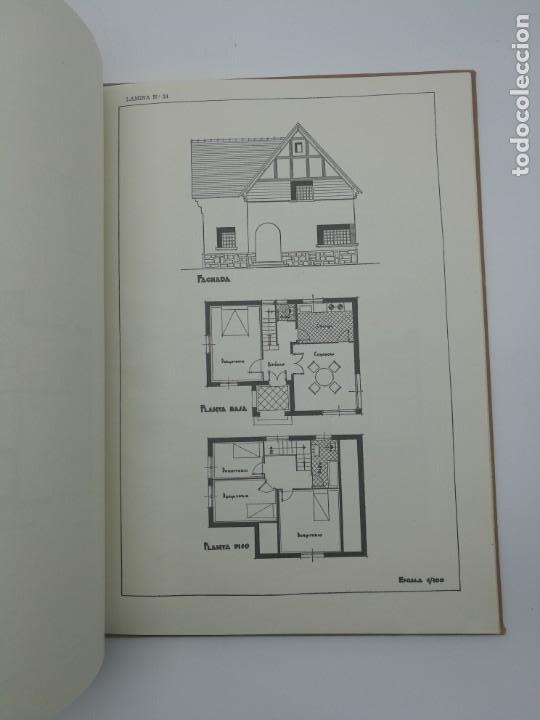 Libros antiguos: Planos modernos de villas y chalets 1959 - Foto 4 - 146387046