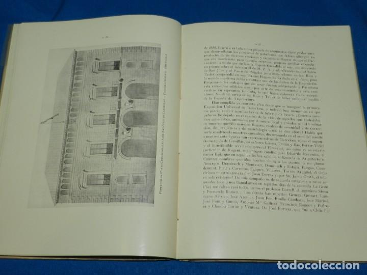 Libros antiguos: (M2.6) BUENAVENTURA BASSEGODA - GALERIA ARQUITECTOS ILUSTRES ELIAS ROGENT , BARCELONA 1929 - Foto 3 - 147441378