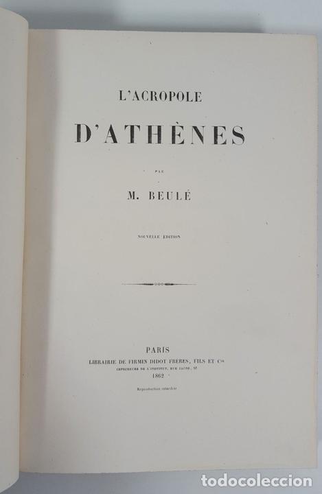 Libros antiguos: LACROPOLE D´ATHENES. M.BEULÉ. PARIS. 1862. - Foto 3 - 148193694