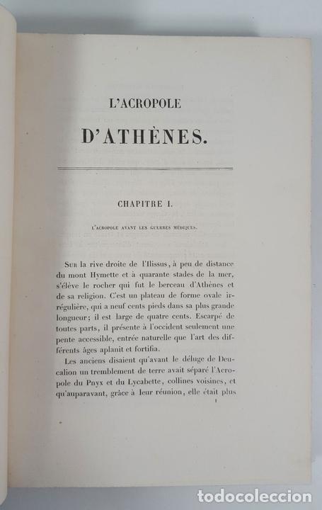 Libros antiguos: LACROPOLE D´ATHENES. M.BEULÉ. PARIS. 1862. - Foto 5 - 148193694