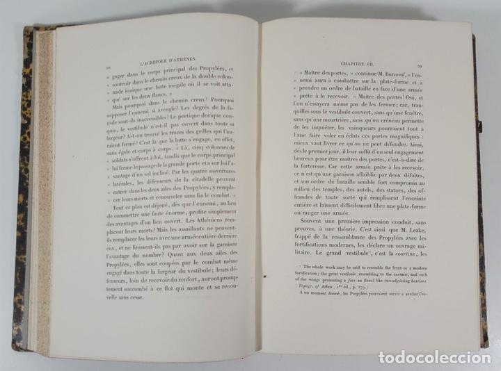 Libros antiguos: LACROPOLE D´ATHENES. M.BEULÉ. PARIS. 1862. - Foto 6 - 148193694