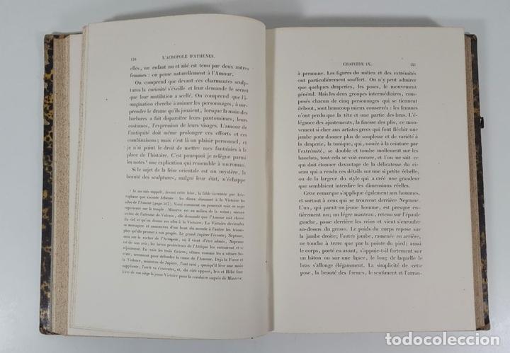 Libros antiguos: LACROPOLE D´ATHENES. M.BEULÉ. PARIS. 1862. - Foto 7 - 148193694
