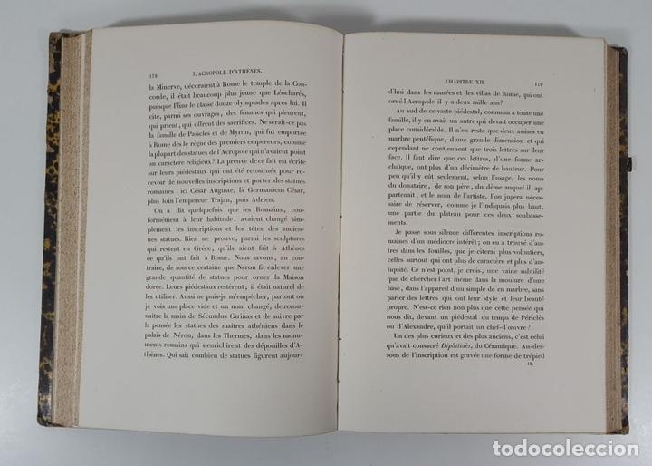 Libros antiguos: LACROPOLE D´ATHENES. M.BEULÉ. PARIS. 1862. - Foto 8 - 148193694