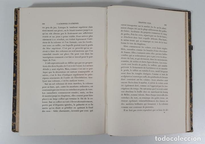 Libros antiguos: LACROPOLE D´ATHENES. M.BEULÉ. PARIS. 1862. - Foto 9 - 148193694