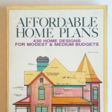 Libros antiguos: AFFORDABLE HOME PLANS-430 HOME DESIGNS. Lote 150675302