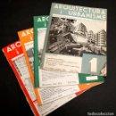 Libros antiguos: ARQUITECTURA I URBANISME 1 , 2 , 3 , I 4 - PUBLICACIO DE L´ASSOCIACIO D´ARQUITECTES DE CATALUNYA. Lote 150934518
