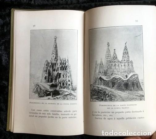 Libros antiguos: GAUDI - COLONIA GÜELL FABRICA DE PANAS Y VELUDILLOS DE GÜELL Y Cia - 1910 RARO - ILUSTRADO - PLANOS - Foto 6 - 150944466
