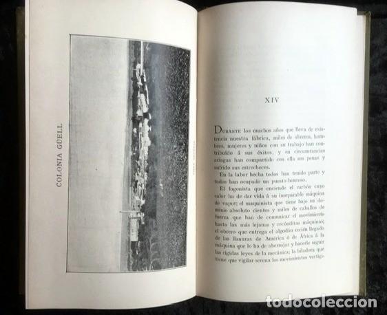 Libros antiguos: GAUDI - COLONIA GÜELL FABRICA DE PANAS Y VELUDILLOS DE GÜELL Y Cia - 1910 RARO - ILUSTRADO - PLANOS - Foto 13 - 150944466