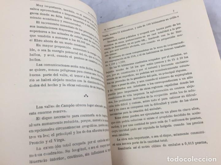 Libros antiguos: El pantano del Ebro. Estudio técnico de sus obras hidráulicas Pardo, M. Lorenzo 1919 planos desplega - Foto 9 - 151358122