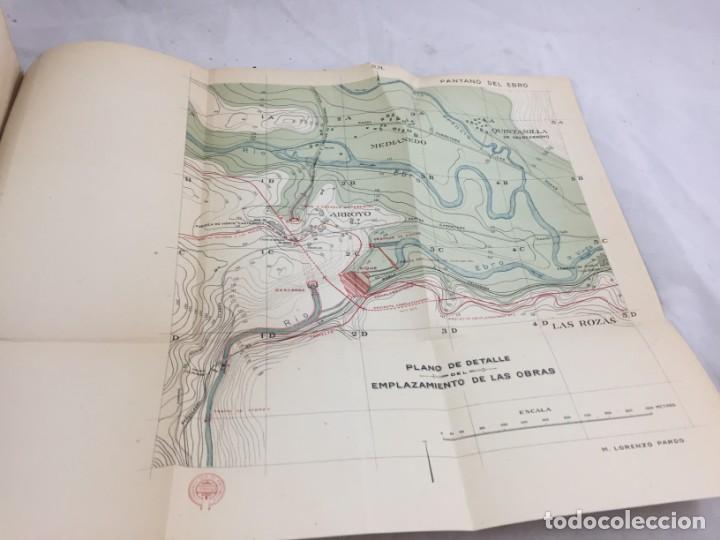 Libros antiguos: El pantano del Ebro. Estudio técnico de sus obras hidráulicas Pardo, M. Lorenzo 1919 planos desplega - Foto 13 - 151358122