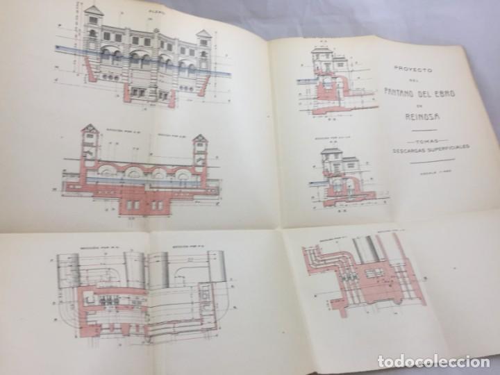 Libros antiguos: El pantano del Ebro. Estudio técnico de sus obras hidráulicas Pardo, M. Lorenzo 1919 planos desplega - Foto 15 - 151358122