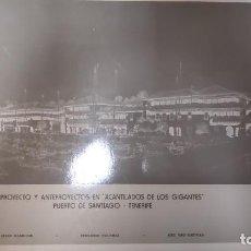 Libros antiguos: PROYECTO DE ARQUITECTURA FERNANDO HIGUERAS. ACANTILADO DE LOS GIGANTES. TENERIFE 1977. PLANOS. Lote 152253410