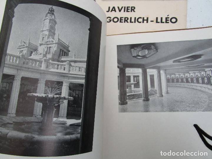 Libros antiguos: DE MUSEO! ARQUITECTURA VALENCIA DE JAVIER GOERLICH LLÉO CASA BALANZA, FRONTON CLUB NAUTICO - Foto 11 - 153295446